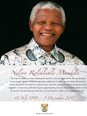 Rest in Peace the former President Nelson Mandela, South Africa