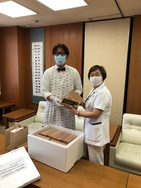新型コロナウイルス感染症と闘う大学病院の医療従事者への地域からの応援